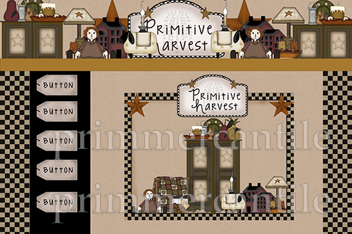 A Primitive Harvest Webset or Template