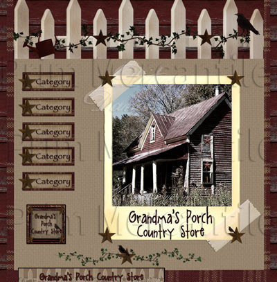 Grandma's Porch OOAK Primitive Webset